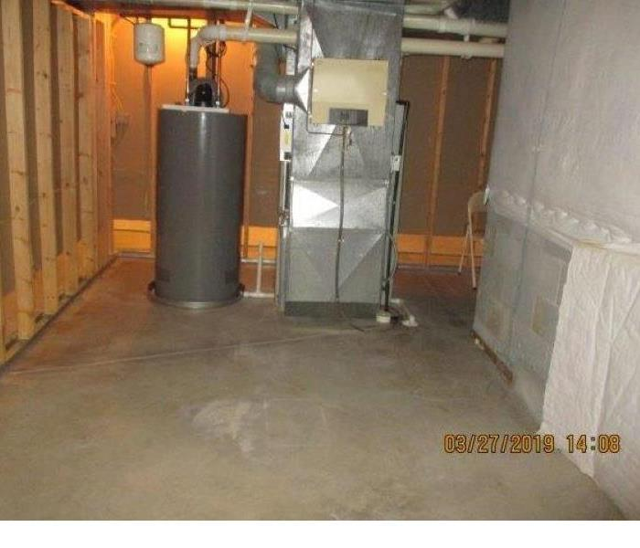 A pristine basement with clean and sanitized floors