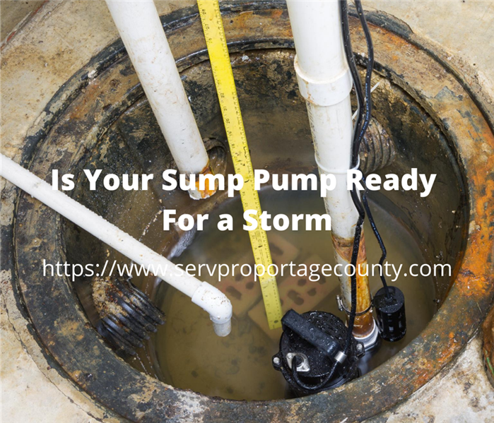 Sump Pump overhead view
